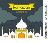 greeting card for holy month... | Shutterstock .eps vector #645850237