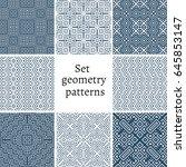 set of ornamental patterns for... | Shutterstock .eps vector #645853147