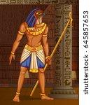 vector design of egyptian... | Shutterstock .eps vector #645857653