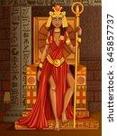 vector design of egyptian... | Shutterstock .eps vector #645857737