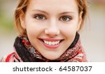 portrait of beautiful charming... | Shutterstock . vector #64587037