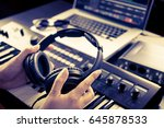 sound engineer is picking... | Shutterstock . vector #645878533