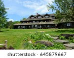 trapp family lodge  stowe ... | Shutterstock . vector #645879667