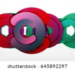 circle geometric abstract... | Shutterstock .eps vector #645892297