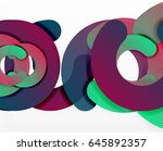 circle geometric abstract... | Shutterstock .eps vector #645892357