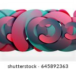 circle geometric abstract... | Shutterstock .eps vector #645892363