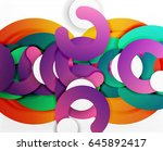 circle geometric abstract... | Shutterstock .eps vector #645892417