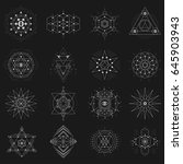 geometric shapes with symbolic... | Shutterstock .eps vector #645903943