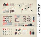 world map infographic. vector...   Shutterstock .eps vector #645907753