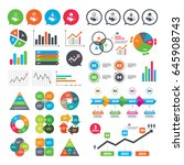 business charts. growth graph.... | Shutterstock .eps vector #645908743