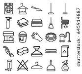 household icons set. set of 25...   Shutterstock .eps vector #645914887