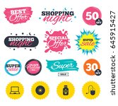 sale shopping banners. special... | Shutterstock .eps vector #645915427