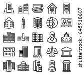 government icons set. set of 25 ... | Shutterstock .eps vector #645918607