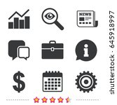 business icons. graph chart and ... | Shutterstock .eps vector #645918997