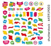 web banners and labels. special ... | Shutterstock .eps vector #645919003