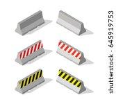 isometric concrete road... | Shutterstock .eps vector #645919753