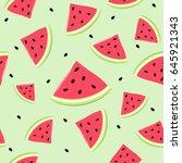 cute seamless vector pattern... | Shutterstock .eps vector #645921343
