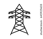 electric tower isolated icon | Shutterstock .eps vector #645925633