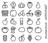 fruit icons set. set of 25...   Shutterstock .eps vector #645925687