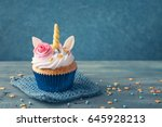 unicorn cupcakes for a party   Shutterstock . vector #645928213