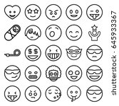 funny icons set. set of 25... | Shutterstock .eps vector #645933367