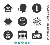 back to top icons. scroll up... | Shutterstock .eps vector #645933907