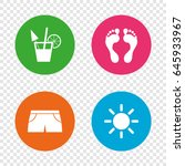 beach holidays icons. cocktail  ... | Shutterstock .eps vector #645933967