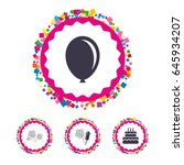 web buttons with confetti... | Shutterstock .eps vector #645934207