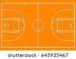 basketball court. mockup... | Shutterstock .eps vector #645935467