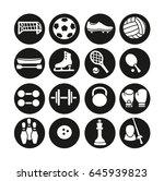 sport icons. | Shutterstock .eps vector #645939823