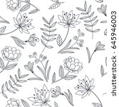 vector seamless pattern with... | Shutterstock .eps vector #645946003