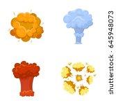 flame  sparks  hydrogen... | Shutterstock .eps vector #645948073