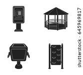 telephone automatic  gazebo ... | Shutterstock .eps vector #645969817