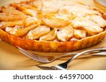 Whole caramel apple tart - stock photo