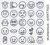 smile icons set. set of 25... | Shutterstock .eps vector #645977023