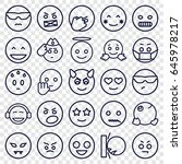 emoji icons set. set of 25... | Shutterstock .eps vector #645978217