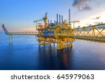 offshore oil and gas rig... | Shutterstock . vector #645979063
