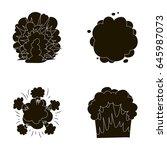 flame  sparks  hydrogen... | Shutterstock .eps vector #645987073