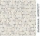 pattern with dotted lines.... | Shutterstock . vector #645987277