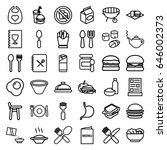 lunch icons set. set of 36... | Shutterstock .eps vector #646002373