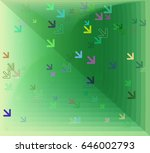 direction art pattern | Shutterstock .eps vector #646002793