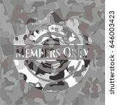 members only grey camouflaged... | Shutterstock .eps vector #646003423