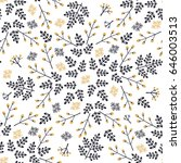 seamless  floral pattern.vector ...   Shutterstock .eps vector #646003513