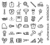 instrument icons set. set of 36 ... | Shutterstock .eps vector #646006267
