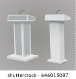 white podium tribune rostrum... | Shutterstock .eps vector #646015087