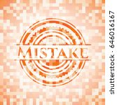 mistake abstract emblem  orange ... | Shutterstock .eps vector #646016167