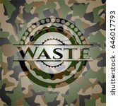 waste on camouflaged pattern | Shutterstock .eps vector #646017793