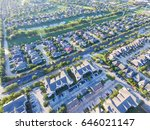 aerial view of residential... | Shutterstock . vector #646021147