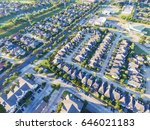 aerial view of residential... | Shutterstock . vector #646021183