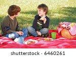 boys having a picnic | Shutterstock . vector #6460261